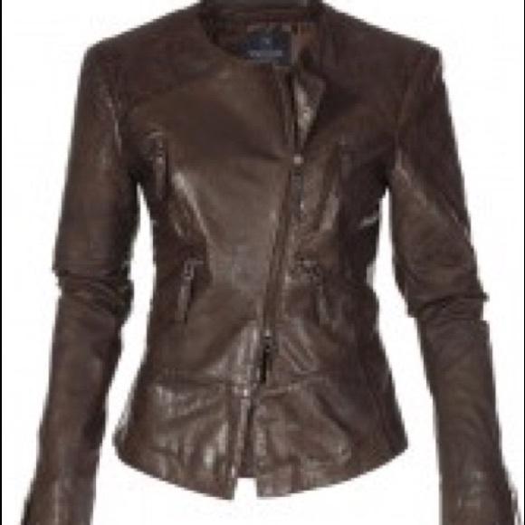 Ladies designer leather coats